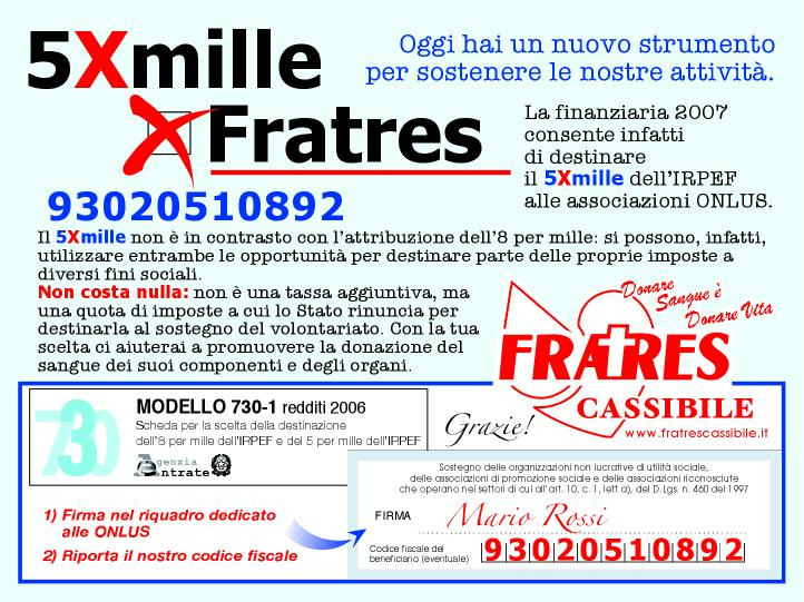 5xmille fratres